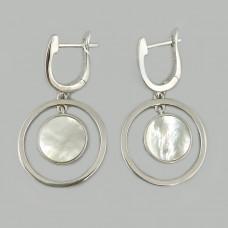 Срібні сережки з перламутром АМ-1155658