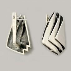 Серебряные серьги Волна ЛС-20103
