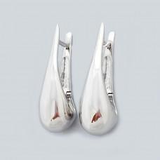Срібні стильні сережки на англійському замку ЛС-2837р