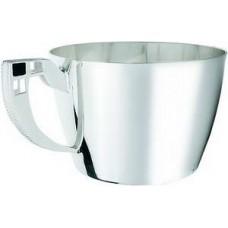 """Срібна чашка кавова """"Чорний квадрат"""" ХЮ-080324"""