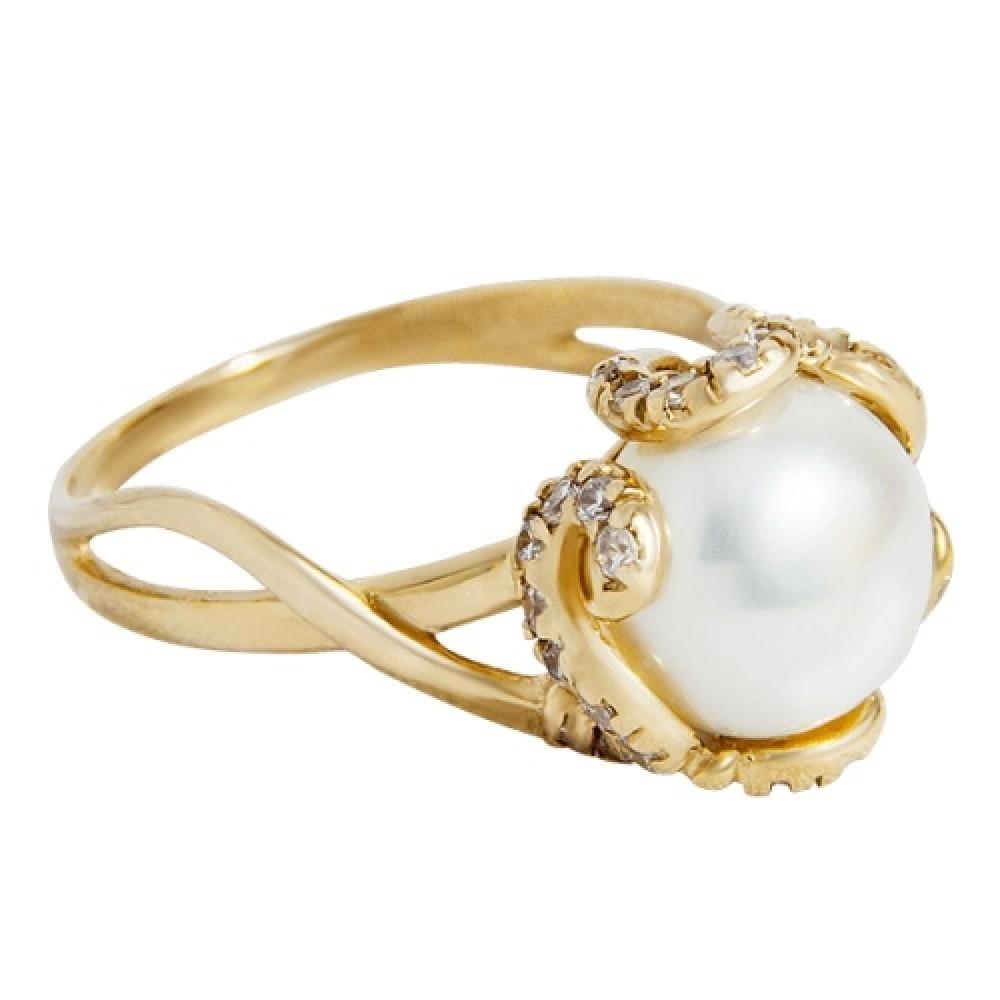 Золотое кольцо с жемчугом 1.81.0345