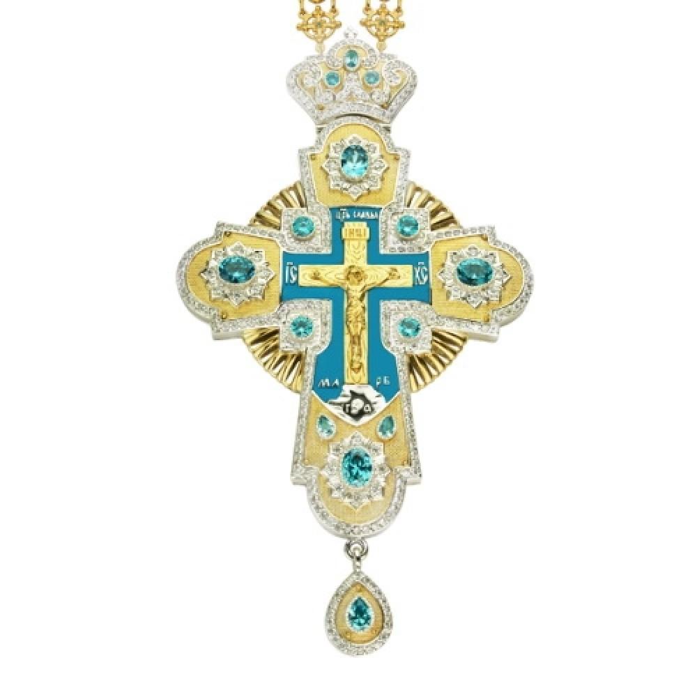 Крест наперсный серебряный с цепью 2.10.0086П48П