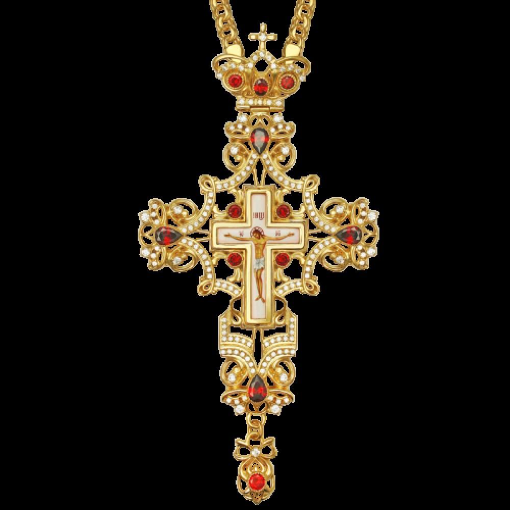 Крест наперсный латунный в позолоте 2.10.0094ЛП-2