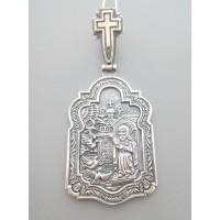 Срібна ладанка Сергій Радонежський 69 бр-3100246