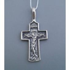 Срібний хрестик бр-3100449