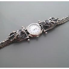 """Серебряные часы """"Драконы"""" бр-ч0001"""