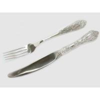 Срібний набір Фантазія (виделка+ніж) бр-7172