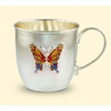 """Серебряная чашка """"Бабочка"""" Аг-2.8.0106"""