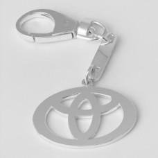 """Серебряный брелок """"Toyota"""" (Тойота) 8101"""