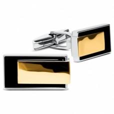 Серебряные запонки с золотой накладкой ЛЗ-82053