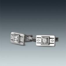 Серебряные запонки ЛЗ-8625