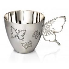 """Срібна чашка """"Метелик"""" ХЮ-0700758"""