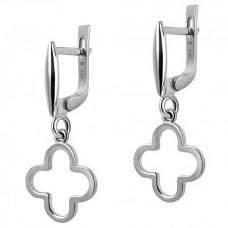 Серебряные серьги ЮМ-20412