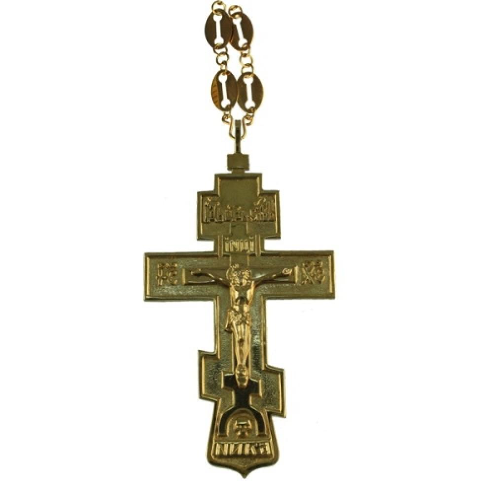 """Крест """"Ника"""" серебряный с позолотой 2.10.0010П"""