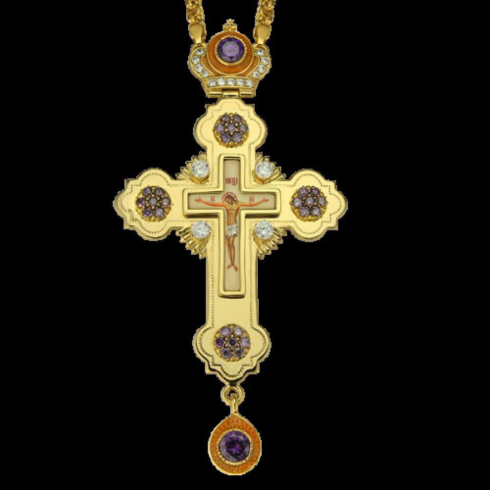 Крест наперсный латунный 2.10.0096ЛП-21ЛП