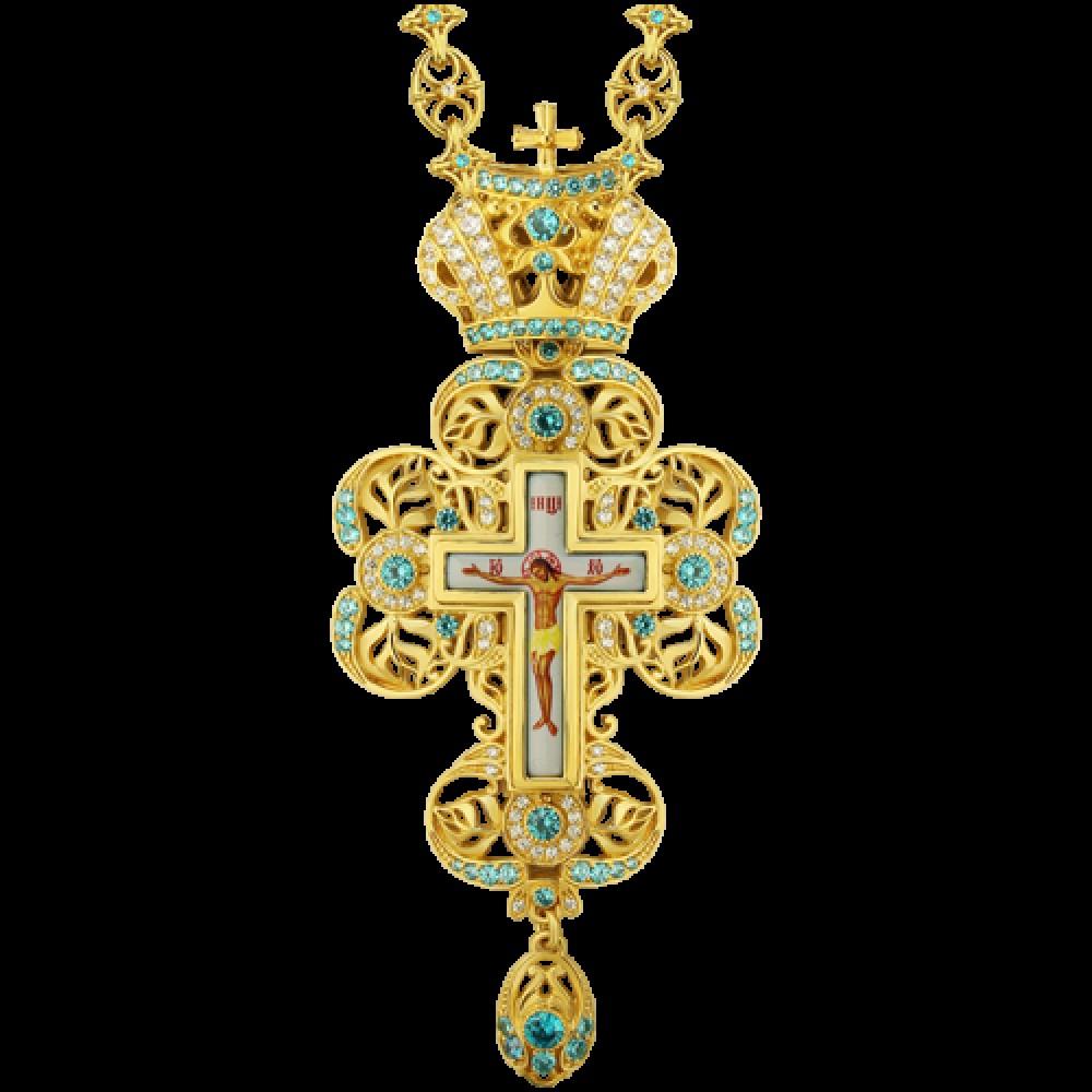 Крест наперсный латунный в позолоте 2.10.0117ЛП-244ЛП
