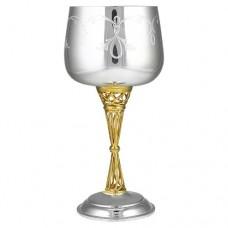 Серебряный бокал винный с позолотой АГ-2.3.0001