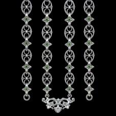Цепь серебряная со вставками аг-2.7.0244