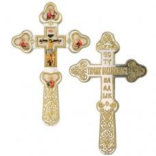 Крест напрестольный латунный с фрагментальной позолотой 2.7.0781ЛФ