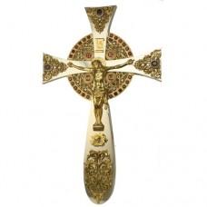 Крест напрестольный латунный с фрагментальной позолотой аг-2.7.0835ЛФ