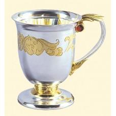 """Срібна чайно-кавова кружка """"Аристократ"""" АГ-280023"""