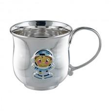 """Срібна чашка """"Космонавт"""" АГ-2.8.0155"""