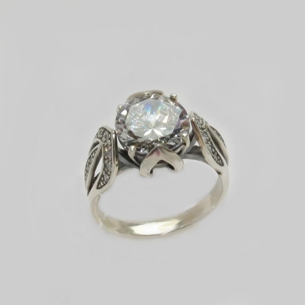 Серебряное кольцо бр-12114