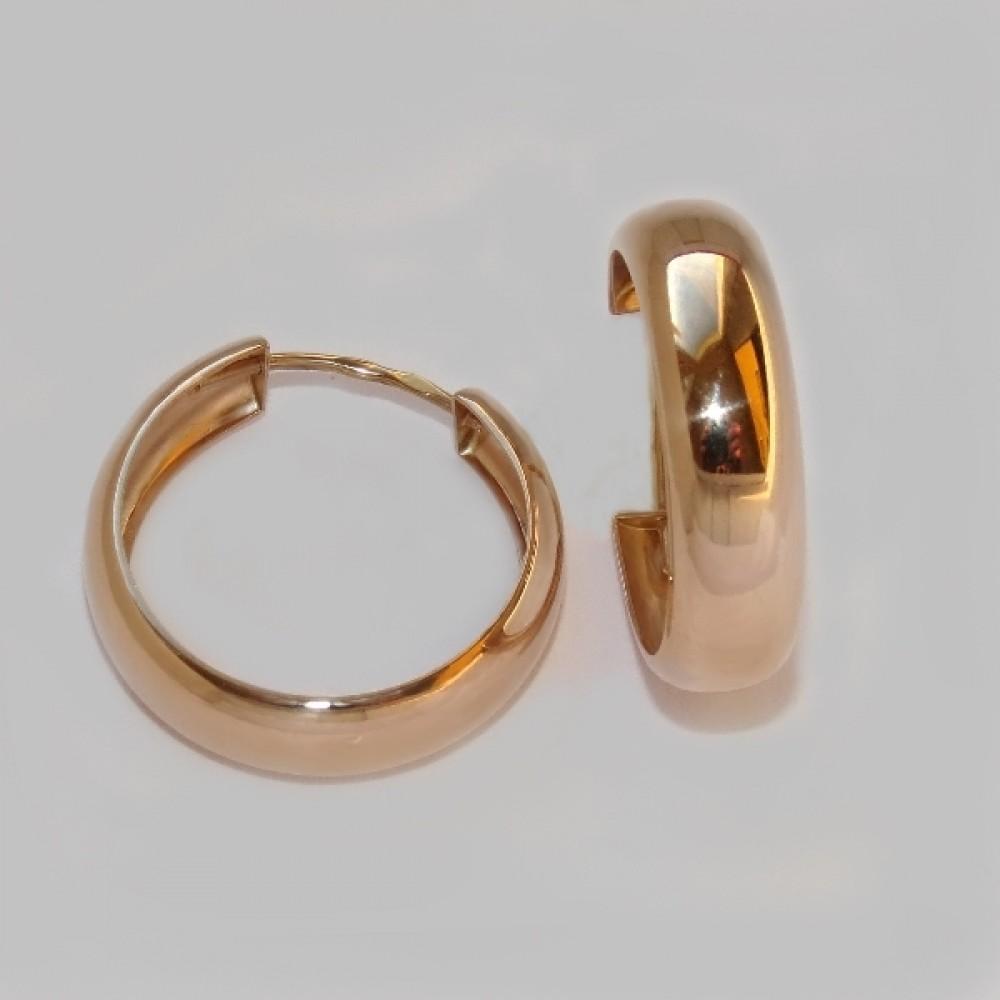 Золотые серьги-кольца АЛ-2701200