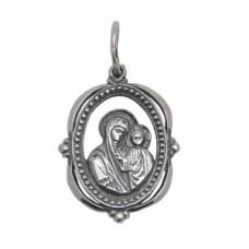 Ладанка зі срібла Божа матір Казанська 3 бр-3100040