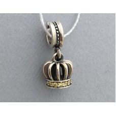 """Серебряная бусина с камнем """"Принцесса"""" бр-1082231"""