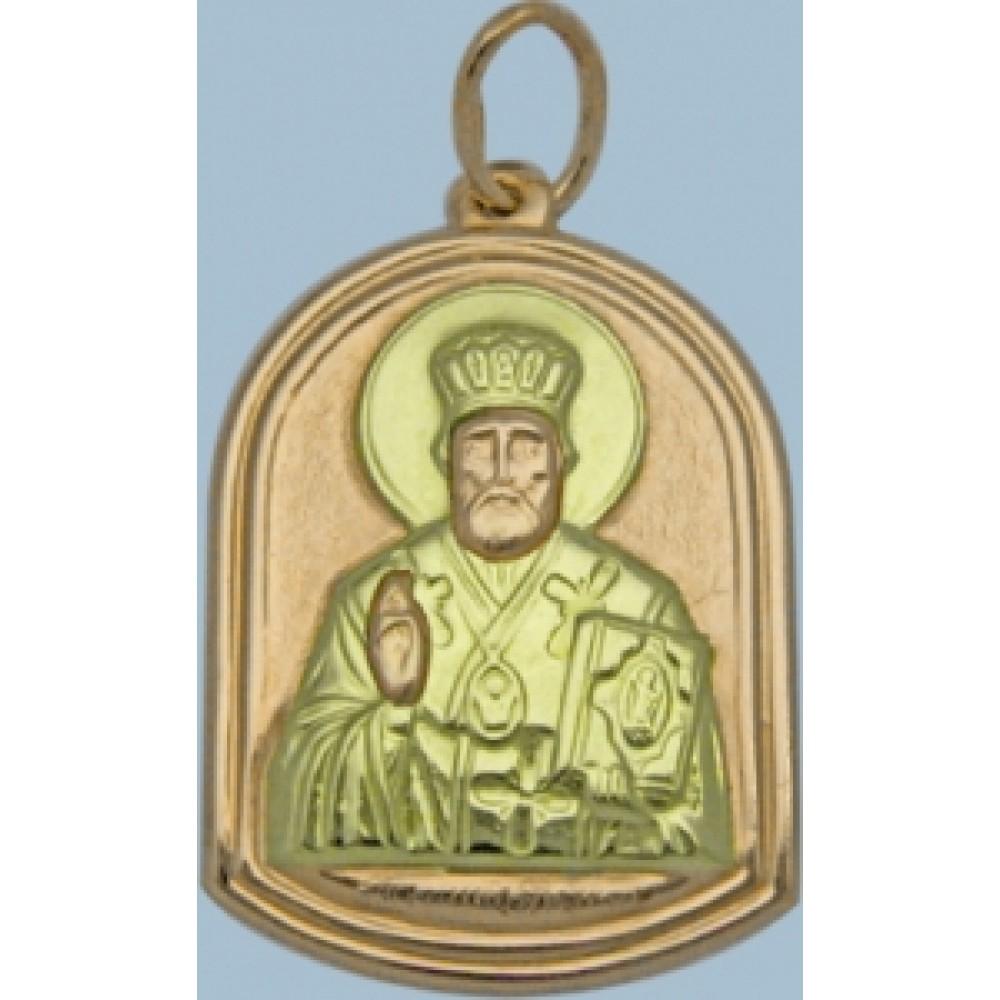 """Золотая ладанка """"Николай Угодник"""" шк-3134-6"""
