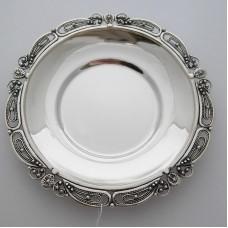 Серебряное блюдце бр-8100063