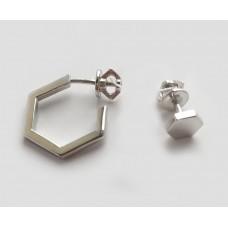 Серебряные серьги минимализм ЛЗ-20082