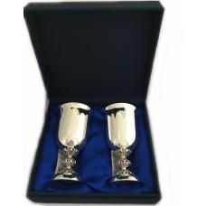 Набір срібних келихів для вина бр-00013/2