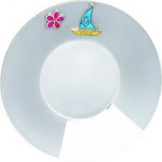 "Серебряная тарелка ""Кораблик"" ХЮ-080388"