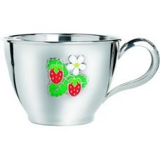 """Срібна чашка """"Полуничка"""" ХЮ-080498"""