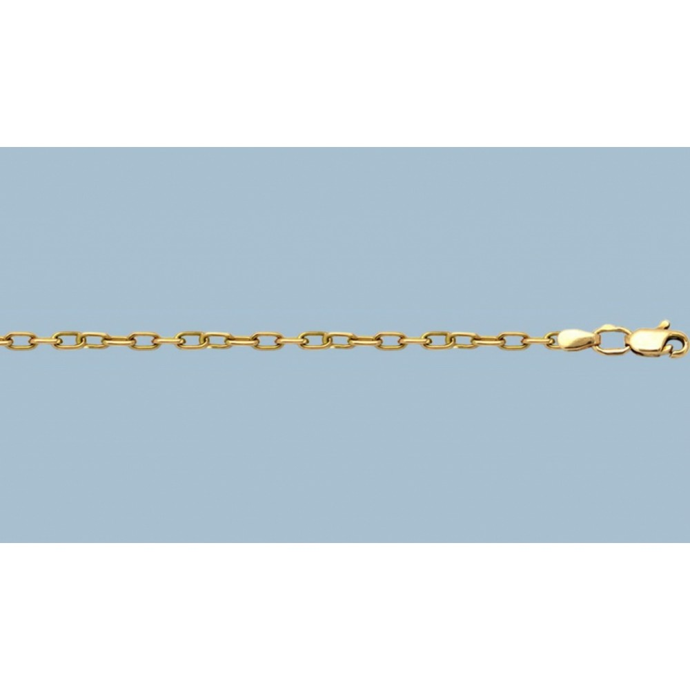 Золотая цепочка Якорная 55см шк-1045