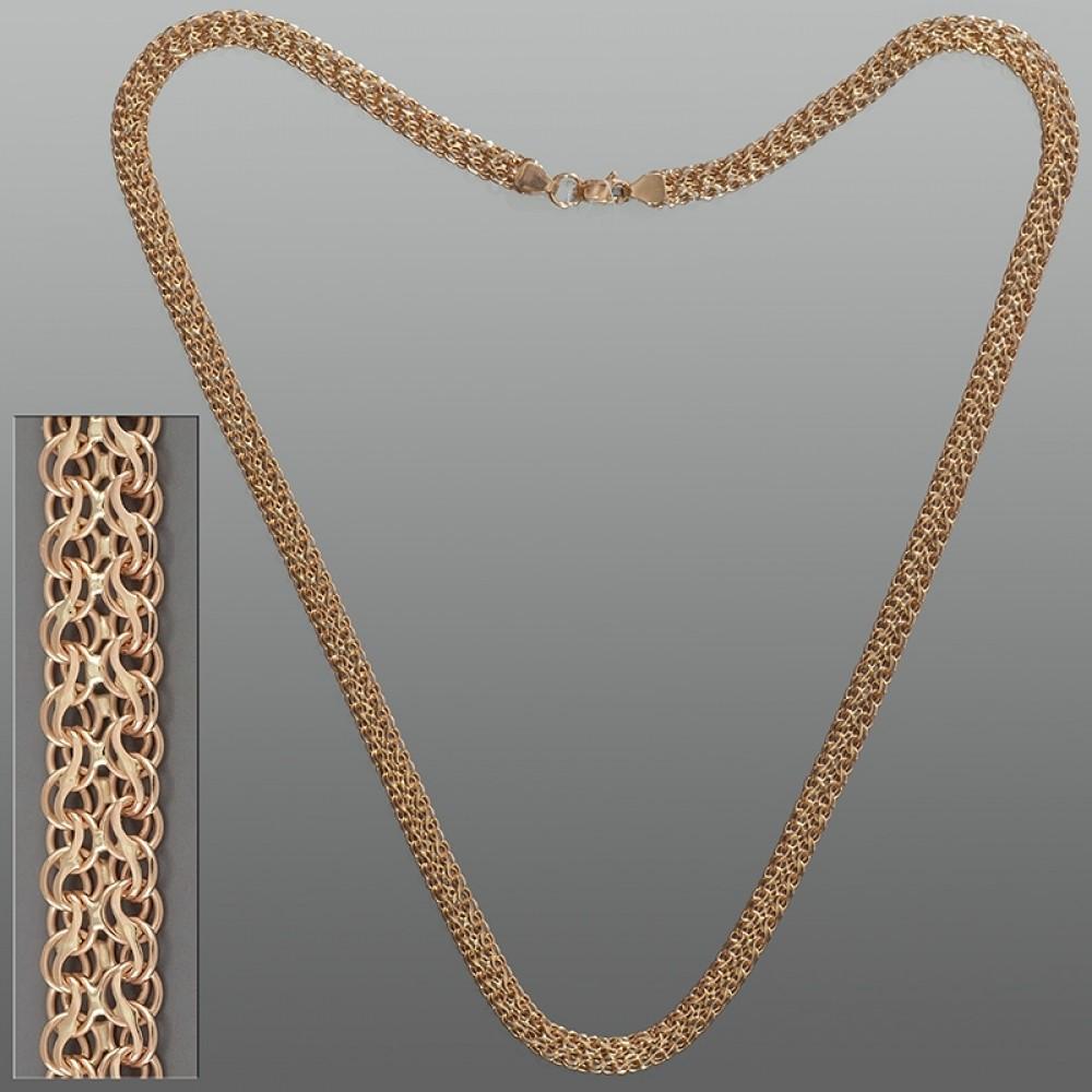 Золотая цепочка Ручеек двойной 55см шк-1118