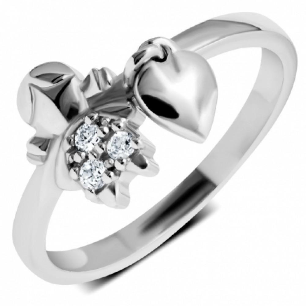 Серебряное кольцо ЛЗ-19076