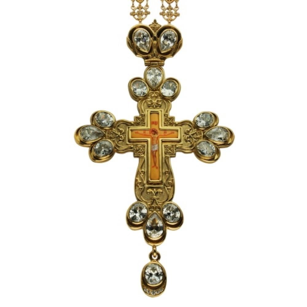 Крест наперсный серебряный с цепью 2.10.0079П-248П