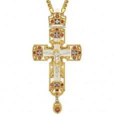 Крест наперсный латунный в позолоте 2.10.0152ЛФ1ЛП