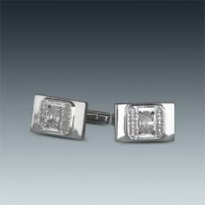 Серебряные запонки ЛЗ-8707