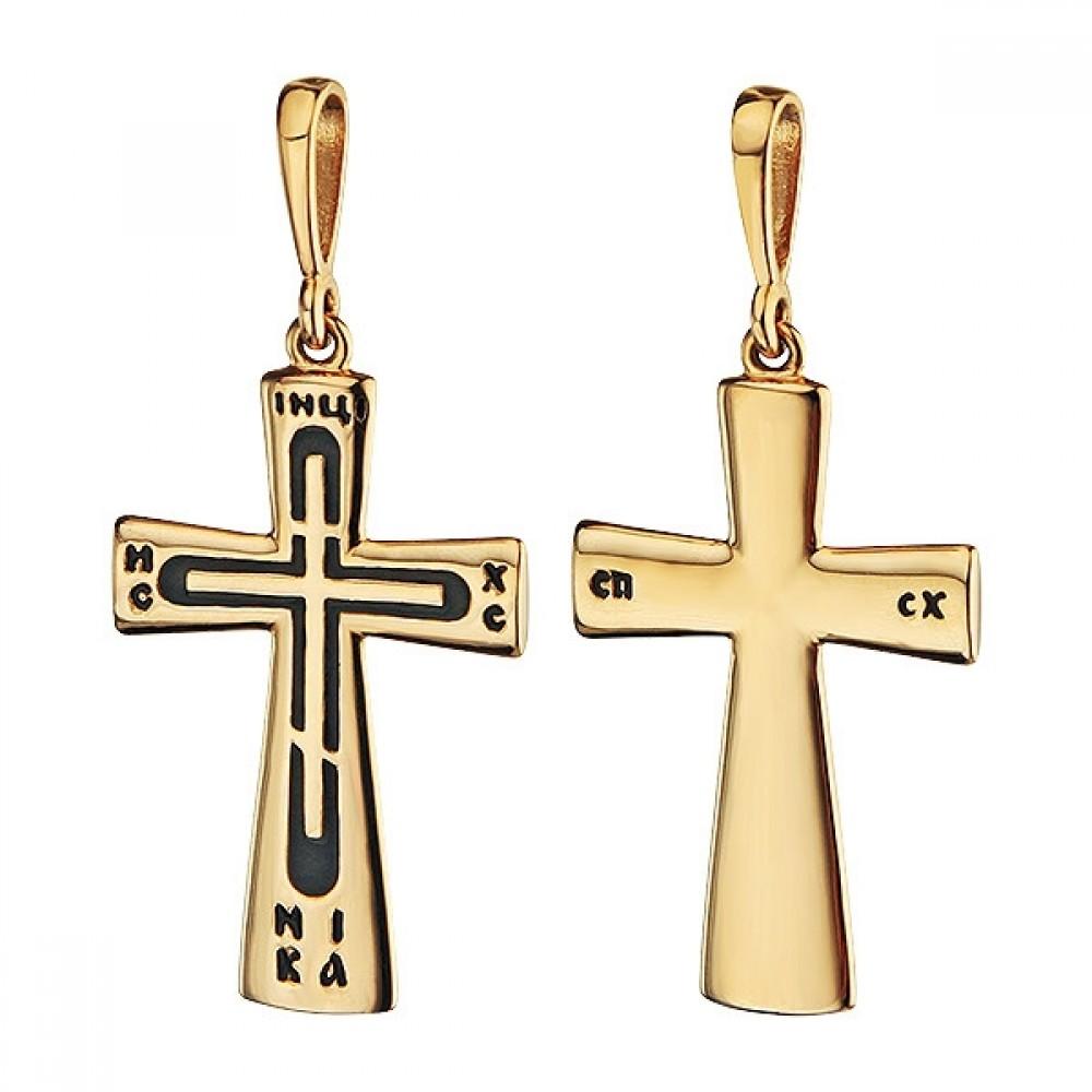 Золотой крест с эмалью аг-1.4.0763