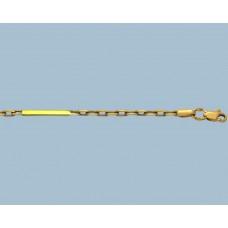 Золотая цепочка Якорная со слитком 55см шк-1083