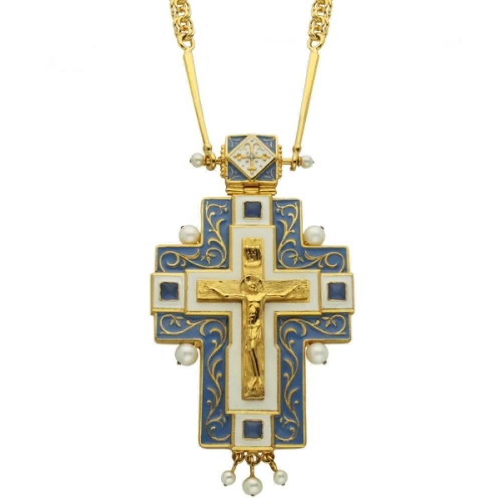 Крест латунный с цепью 2.10.0047ЛП34ЛП
