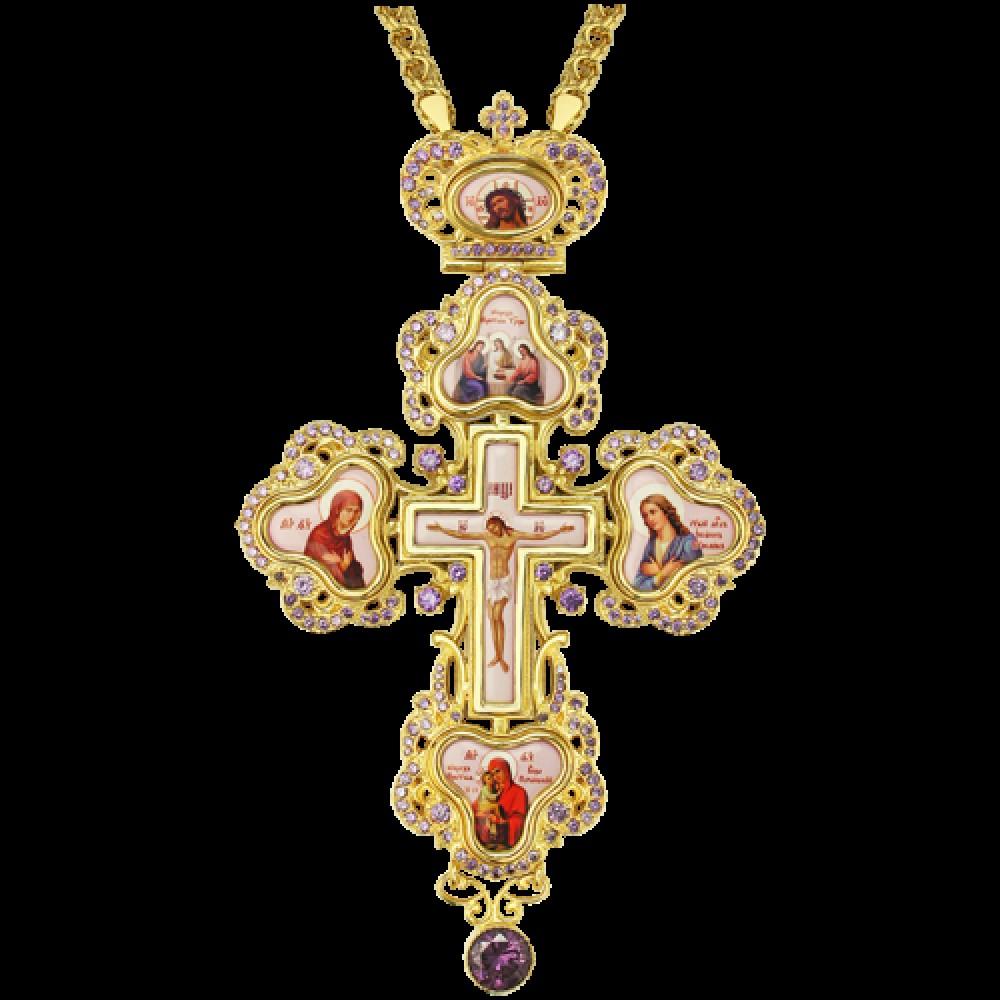 Крест наперсный латунный 2.10.0127ЛП-21ЛП