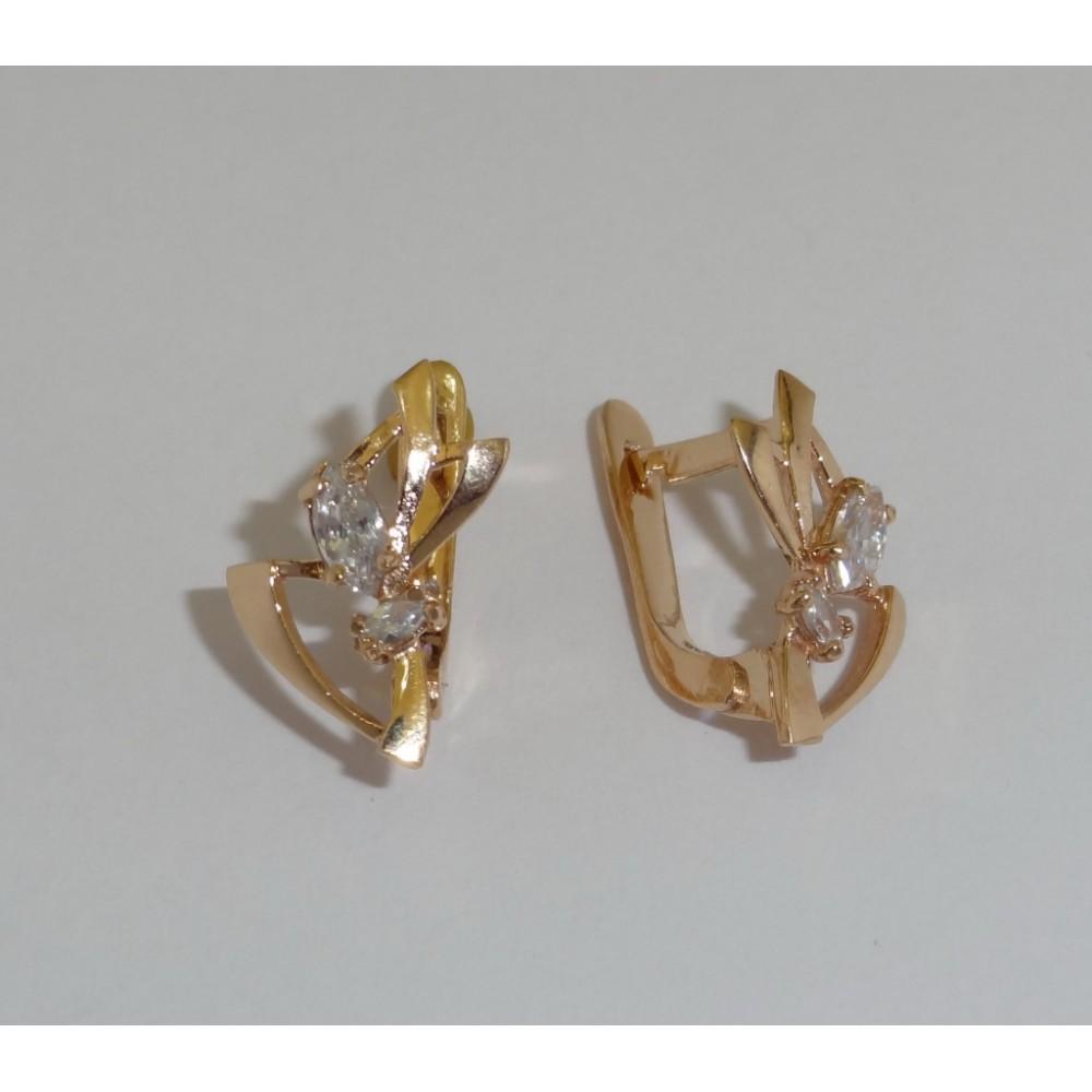 Золотые серьги дс-30008