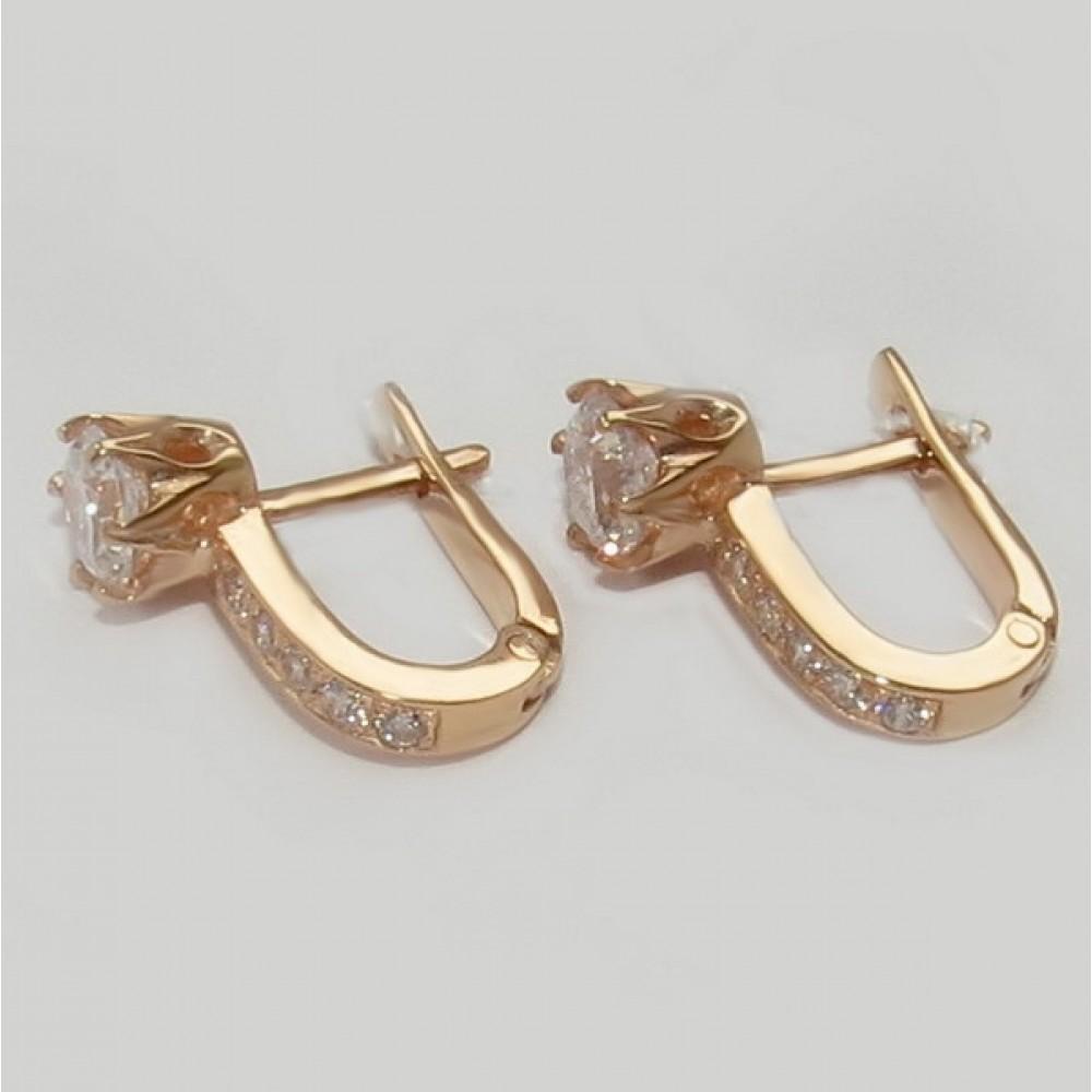 Золотые серьги дс-30027