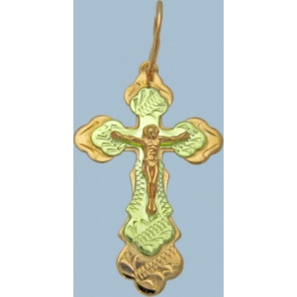 """Золотой крест """"Распятие Христово"""" шк-3053"""