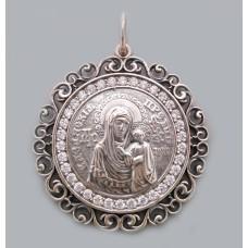 Серебряная ладанка  Божия Матерь Казанская  104 бр-3110716